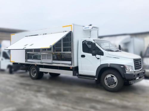 Торговый фургон на ГАЗон Next C41R33 с ХОУ TerraFrigo
