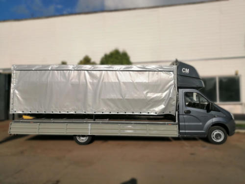 Бортовой автомобиль на ГАЗель Next A21R32 со спальником и боковой шторой